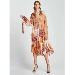 Zara basic collection oversized fall dress